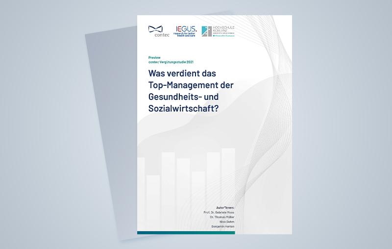 Cover der Preview der contec Vergütungsstudie 2021